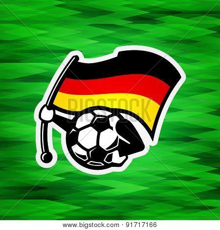 Germany wins final vector symbol