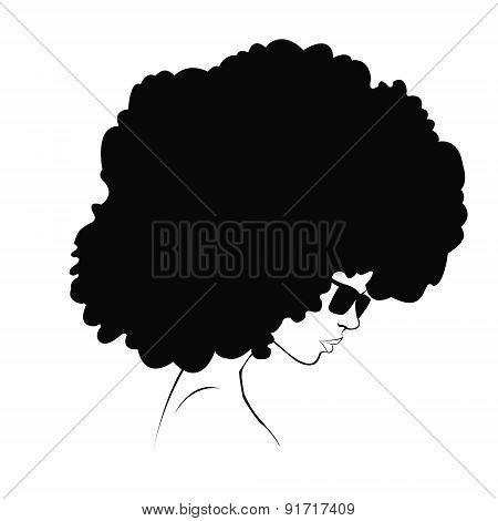 profile silhouette of girl
