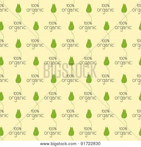Pattern With Organic Logo