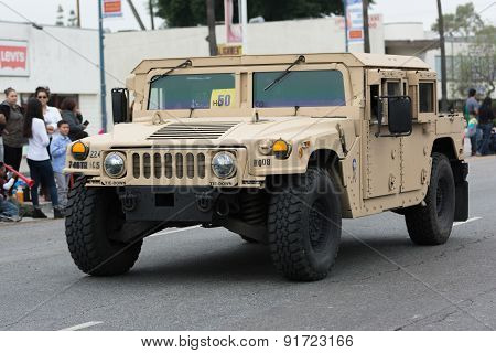 Hmmwv Military Vehicle During Memorial Day Parade