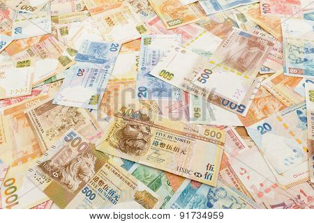 Background of Hong Kong currency banknotes