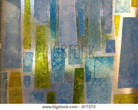 Yellow And Blue Stained Glass