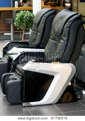 Leather comfortable massage chairs