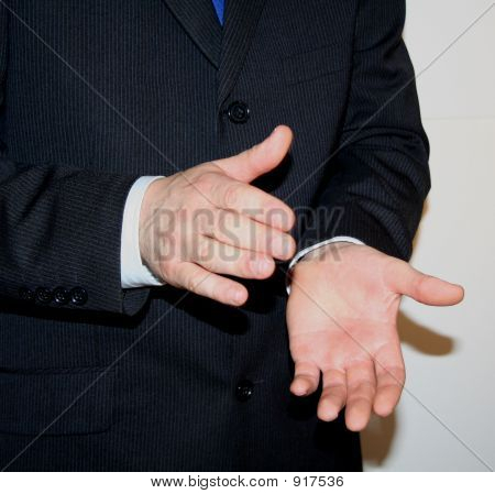 sale manager clapping hands after a good sales performance poster
