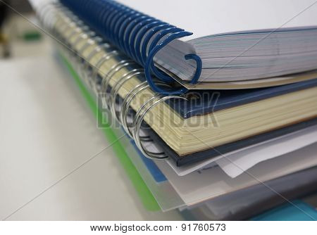 Document And Binder Ring Book At Office