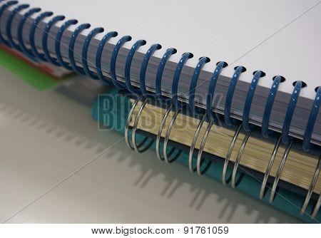 Stack Of Ring Binder Book
