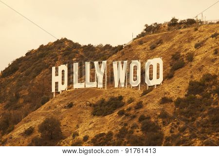 Hollywood California Retro Sign