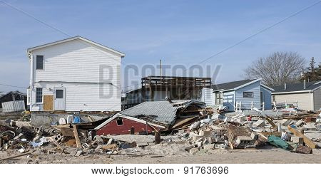 Hurricane Sandy Destruction At Breezy Point - Photo 1