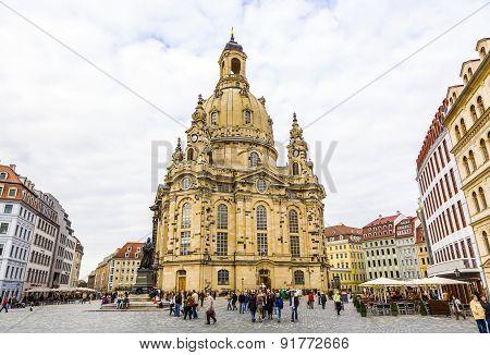 View Of Frauenkirche In Dresden