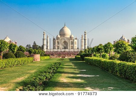 Taj Mahal In The Evening