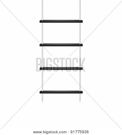 Rope ladder in white and black design