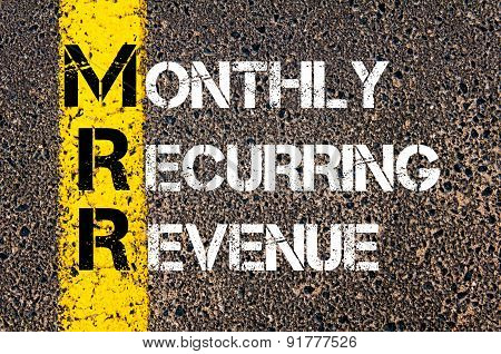 Business Acronym Mrr As Monthly Recurring Revenue