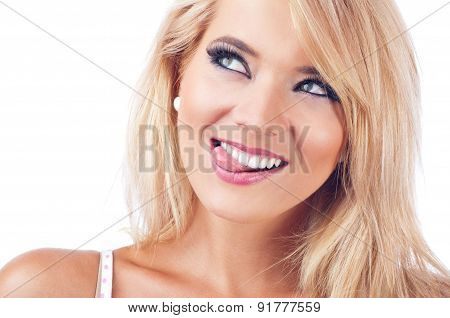 Young Women  Making A Funny Face