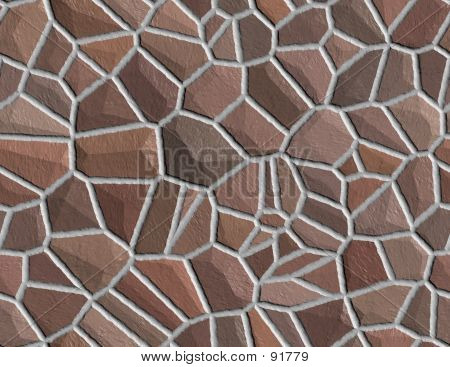 Stone Wall Seamless Background Medium Brown Stones