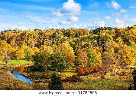 View of Oru Park in Toila. Ida-Viru County Estonia Europe poster