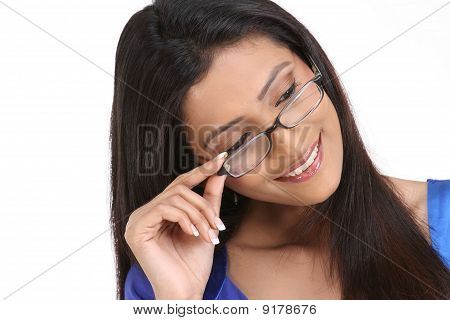 indian woman with eyeglasses