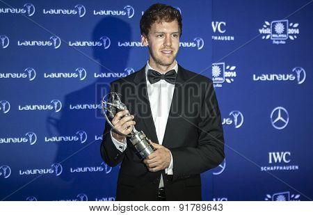 Sebastian Vettel at Laureus Awards