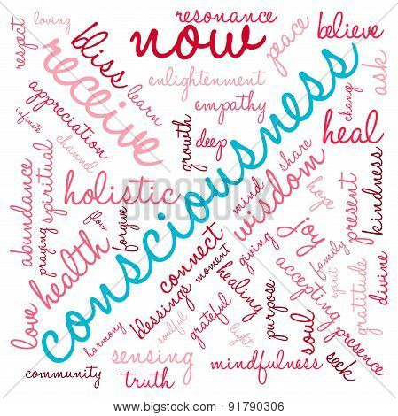 Consciousness Word Cloud