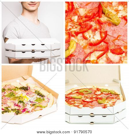 Fast Food Pizza Delivery Set
