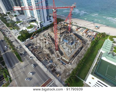 Aerial image construction site