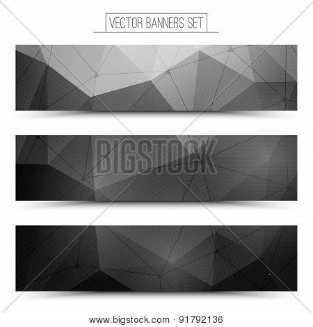 3d vector technology web banners