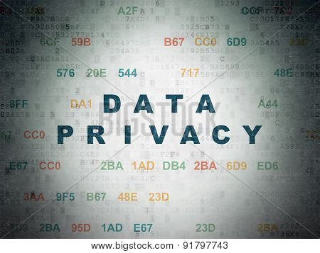 Privacy concept: Data Privacy on Digital Paper background