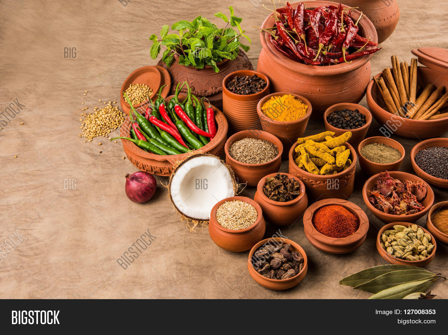 indian spices image photo free trial bigstock. Black Bedroom Furniture Sets. Home Design Ideas