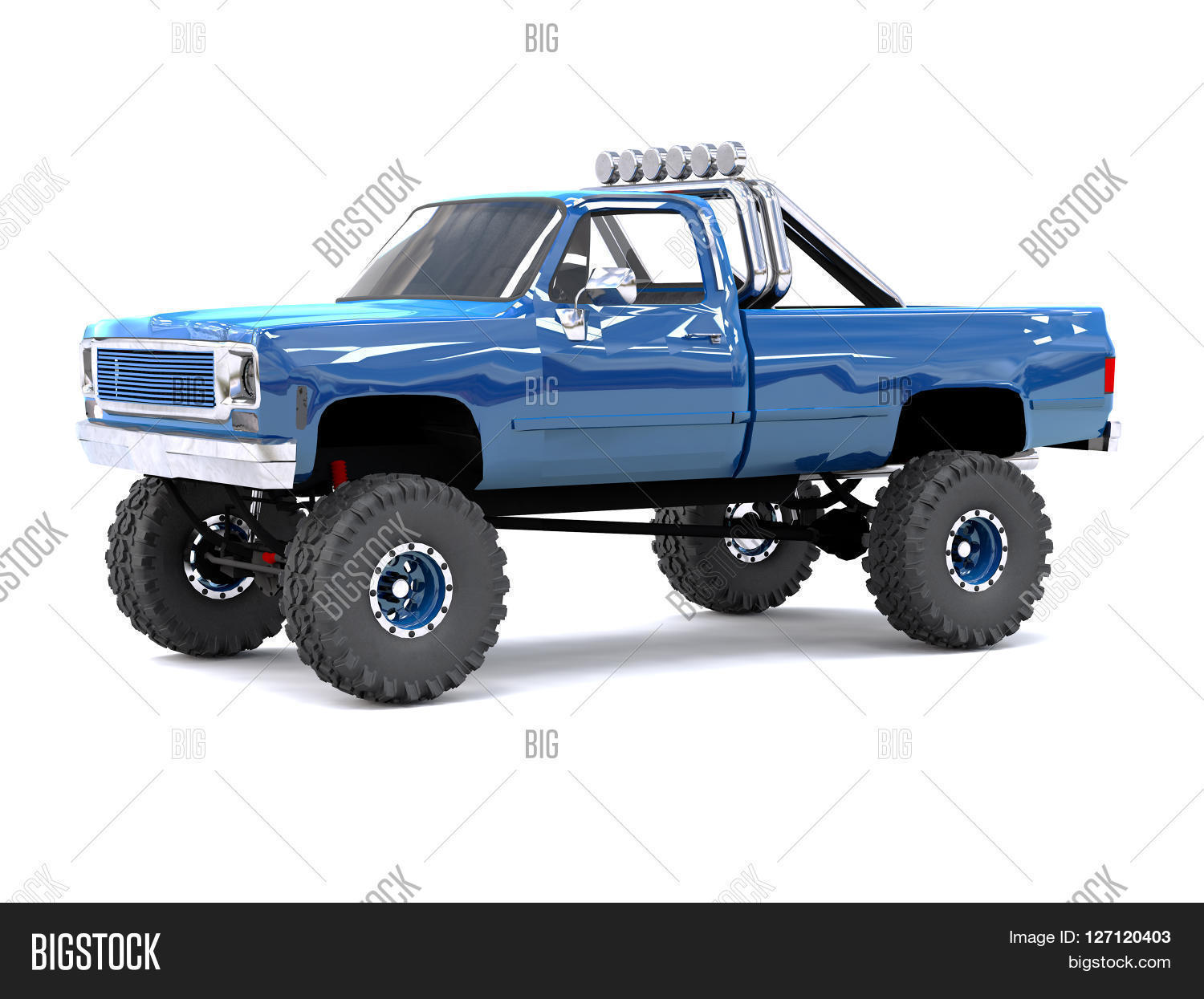 Large blue pickup truck off road image photo bigstock a large blue pickup truck off road full off road training highly publicscrutiny Images