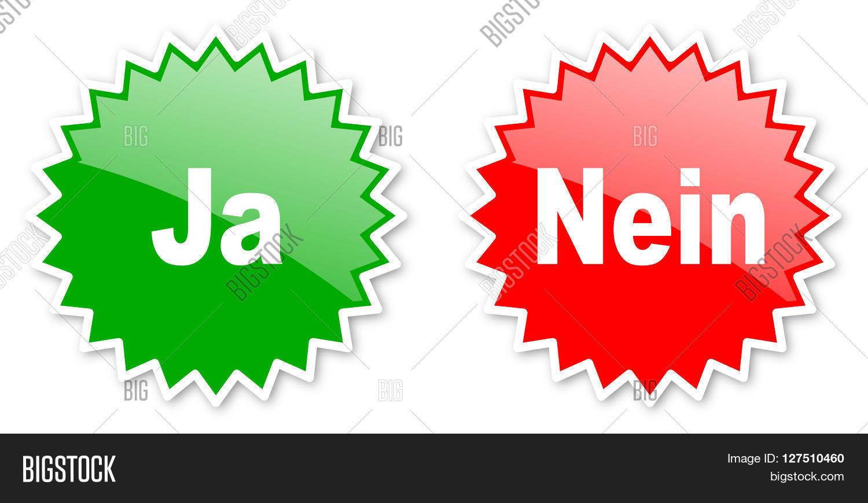 Ja Nein Yes No Image Photo Free Trial Bigstock