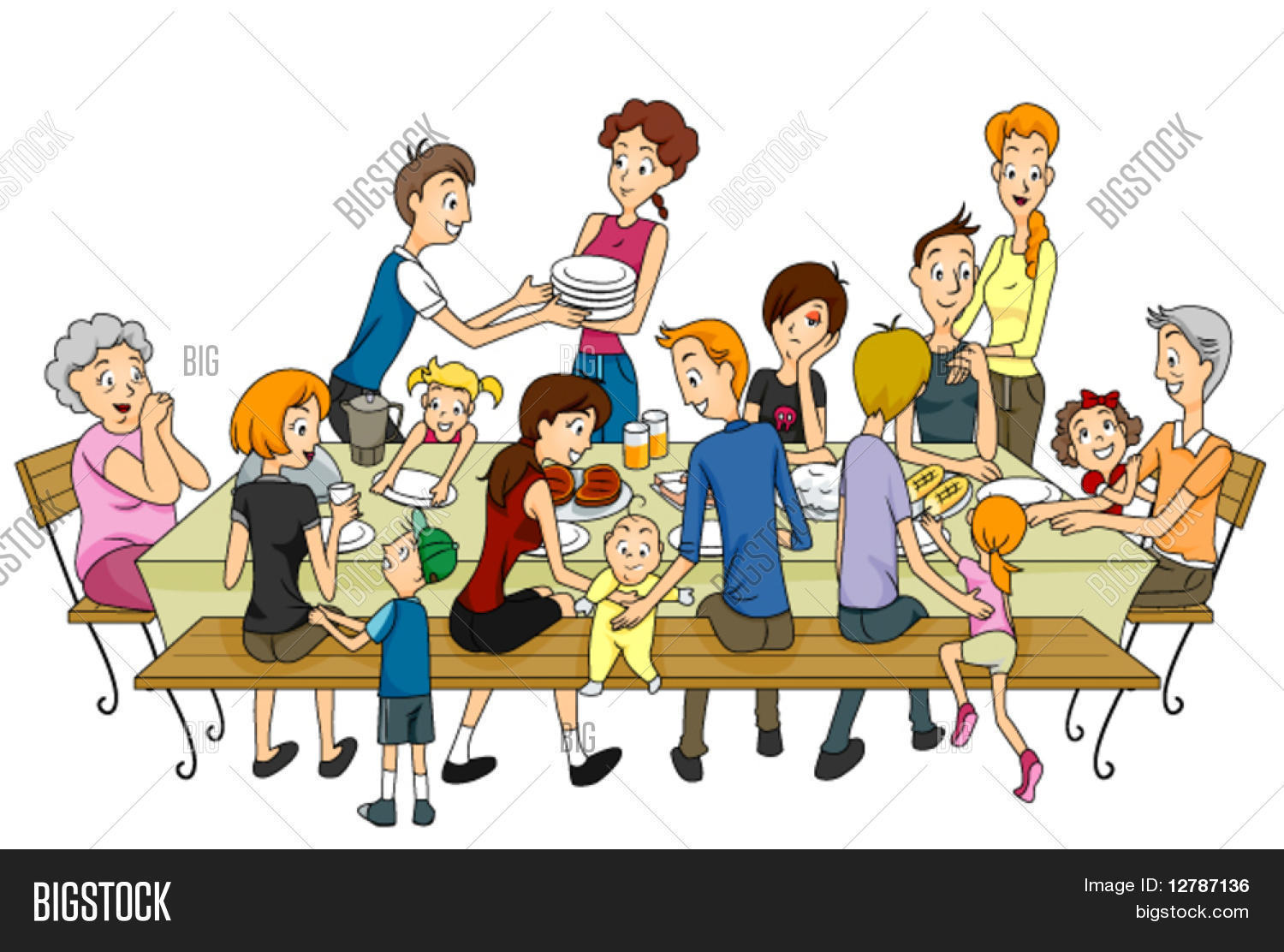 family reunion vector photo free trial bigstock. Black Bedroom Furniture Sets. Home Design Ideas