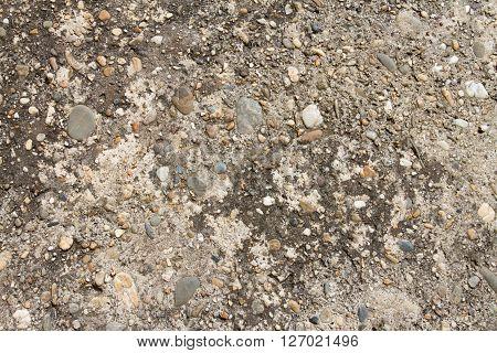 Shot Of Cement Wall - A Asphalt Texture