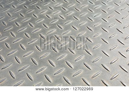Bumpy metal pattern at angle