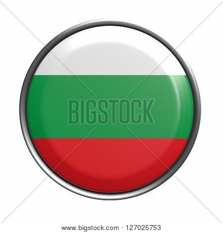 Button With Bulgaria Flag