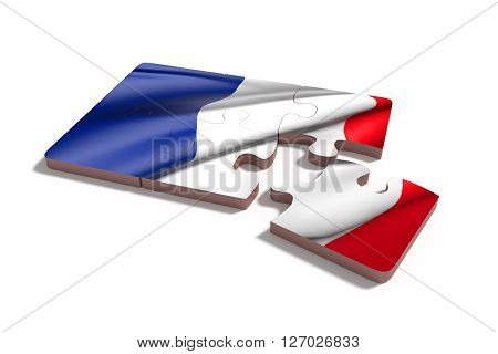 Puzzle France Flag