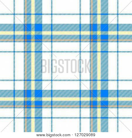 blue yellow orange check diamond tartan scot plaid fabric material seamless pattern texture background