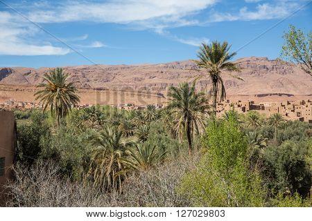 View of Ait Benhaddou Kasbah, Ait Ben Haddou, Ouarzazate, Morocco