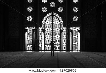 Hassan II Mosque in Casablanca, Morocco.