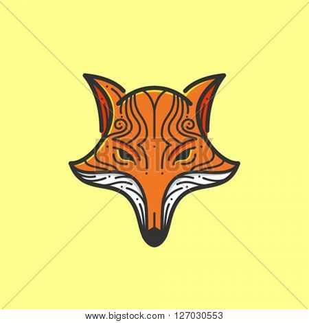 Stylized fox head illustration