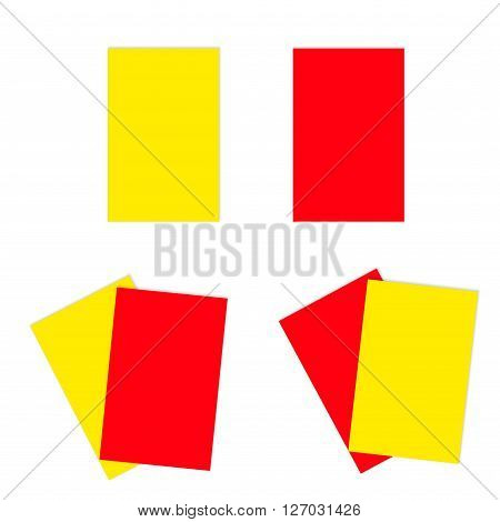 Red And Yellow Football Soccer Cards