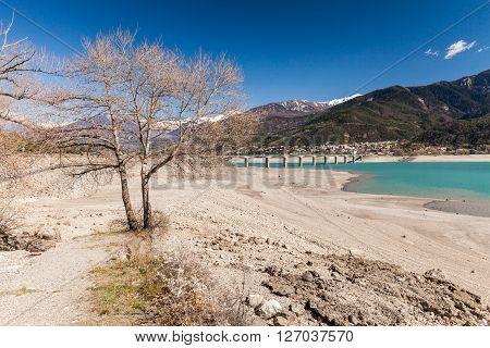 Around the Lake Serre-Poncon in Hautes-Alpes France