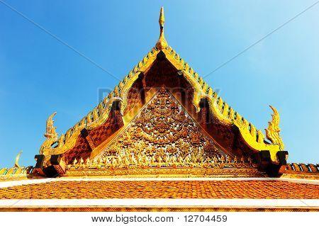 Thai Roof Roof In Wat Ratchanatdaram Temple