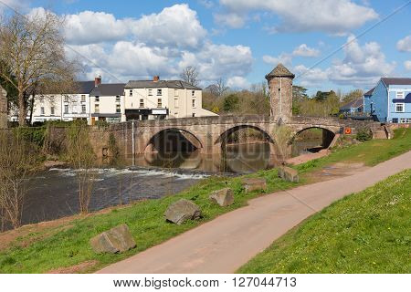 Monnow bridge Monmouth Wales uk historic tourist attraction Wye Valley