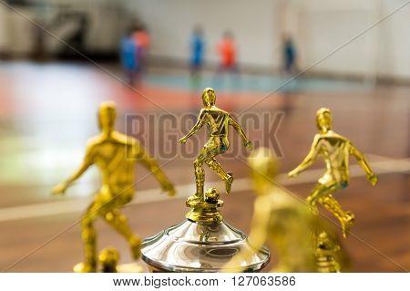 Troféu de campeonato de Futsal infantil no Brasil