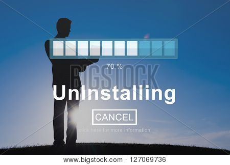 Uninstalling Remove Delete Cancellation Uninstall Concept poster