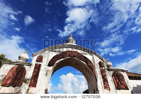 Gate to Durba Square with blue sky