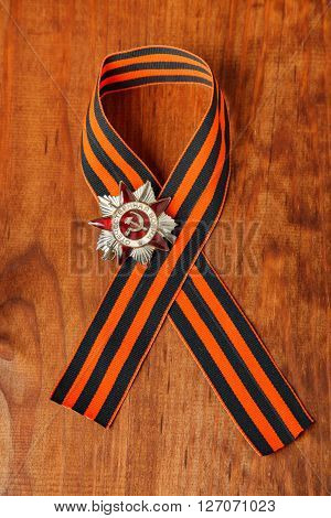 Order Of The Great Patriotic War. George Ribbon On Wooden