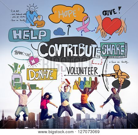 Contribute Corporate Collaboration Support Contribution Concept