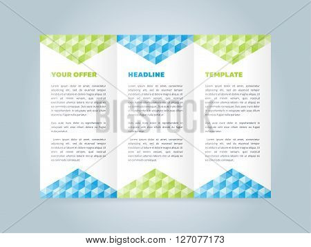 Tri Fold Cover Inside Page Vector Photo Bigstock - Brochure template tri fold