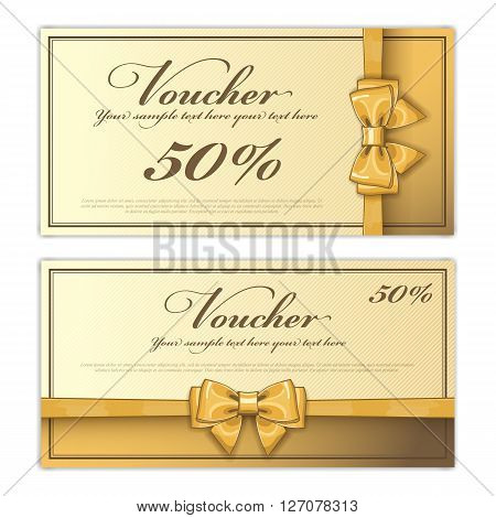 Voucher Design Vector Photo Free Trial Bigstock