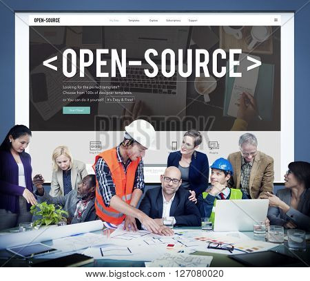 Open Source Developer Program Software User Concept